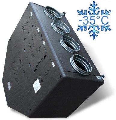 КПД 85% -35С приточно-вытяжные установки с рекуперацией тепла и влаги